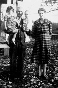 Momma and Daddy with Charlotte and Frances 1942